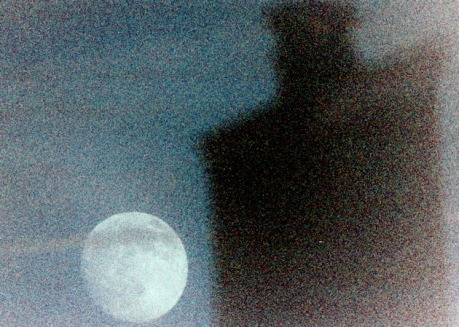Abstract expressionist photograph - Super Moon 2013